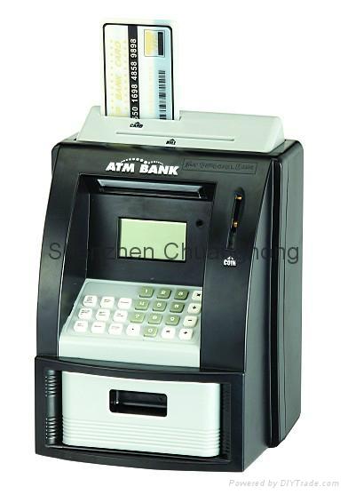 Piggy coin bank Mini ATM coin bank, coin counter jar, money jar 3