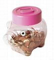 Piggy money box digital coin counting