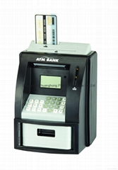 Digital ATM Money Bank Black Electronic Coin Note Money Counting Atm Box