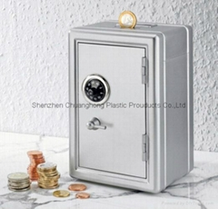 Plastic Piggy bank with key and password Mini box safety box cute Money box