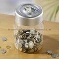 Plastic electronic bank digital coin counting money jar 3