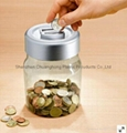 Plastic electronic bank digital coin counting money jar 1