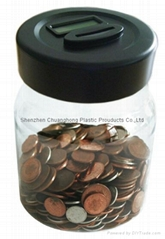 Promotional Coin Counting Plastic Digital Money Jar