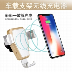 IphoneX Fast Car Wireless Charger Wireless Charging Pad Wireless Charge Standing