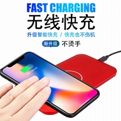 2018 hot selling QI Phone Wireless Fast Charger for Iphonex/8/8P