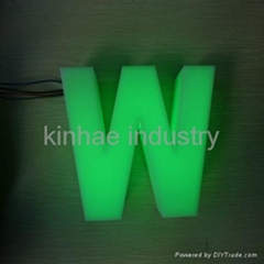 Plexiglass acrylic fabricated outdoor LED letter