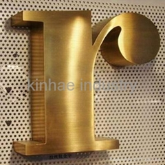 Gold-plating Stainless Steel Channel Letter Sign