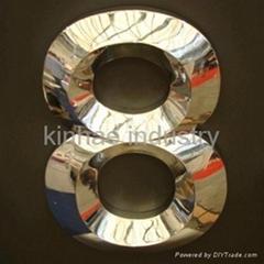 3D gold-plating metal channel letter