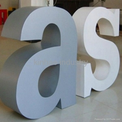 Different colors painting stainless steel channel letter sign