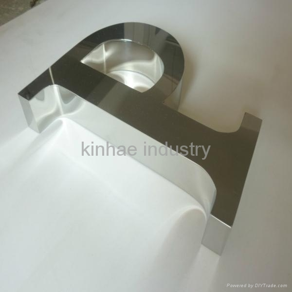 Polished Stainless Steel Letter