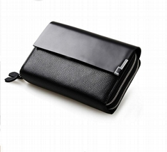 Portfolio or Briefcase for Men Genuine Leather business bag