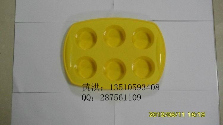 硅膠六孔蛋糕模 1