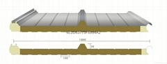 新型聚氨酯封邊岩棉彩鋼夾芯板