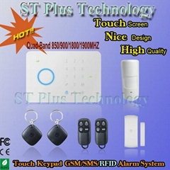 Touch Keypad Smart GSM SMS RFID Home Alarm System Wireless with Access Control