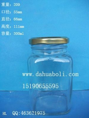 300ml方形麻辣酱玻璃瓶 1