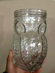 猫头鹰玻璃储物罐