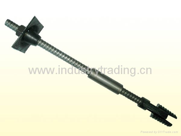 Prestressed hollow bar anchor bolt for tunnelling engineering, spiling bolt