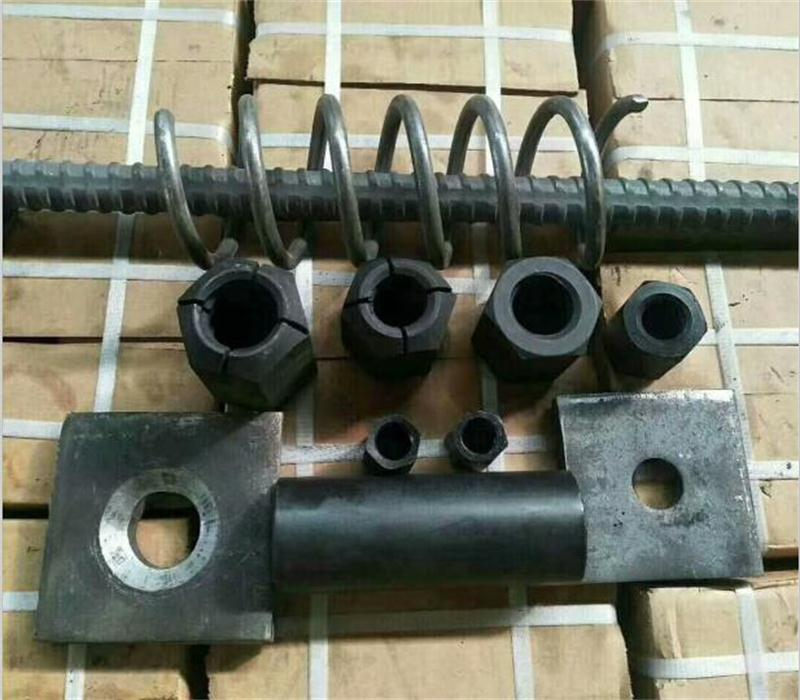 Nut, coupler and plate for prestressing screw bars/post tensioning bars  1
