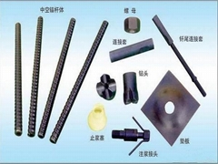 Accessories for theaded hollow bar anchor bolt