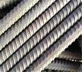 Solid threaded bar/post tensioning bar