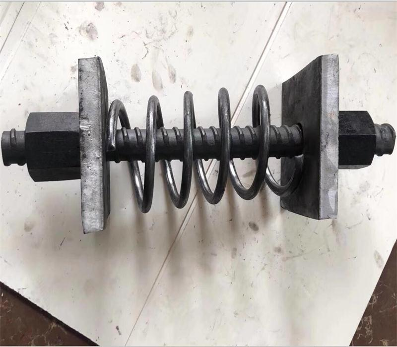 Coupler, nut and plate for post-tensioning bar 12
