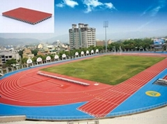 Track and Field Prefabricated Rubber Running Track Surface
