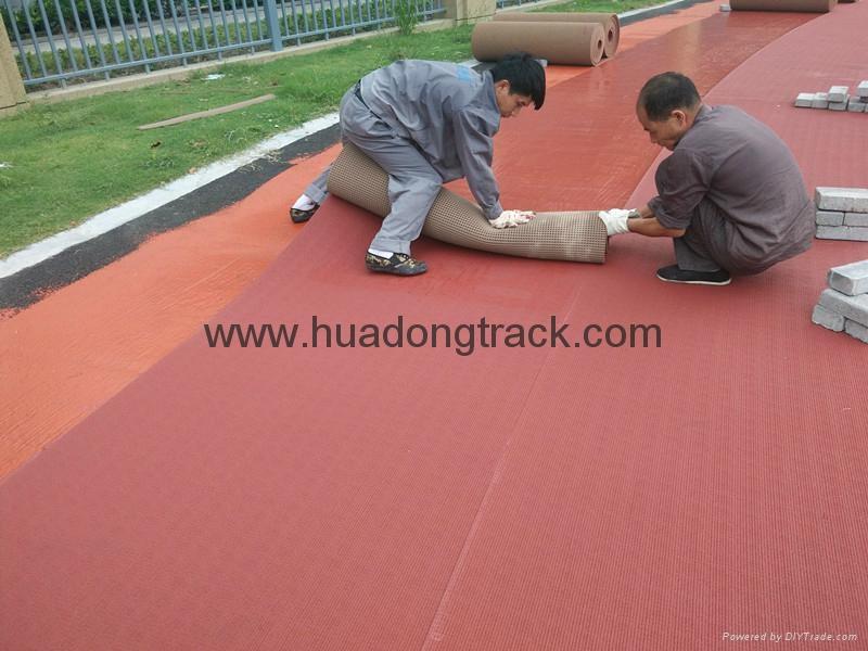 IAAF Certified Rubber Athletic Sport Running Track Floor 3