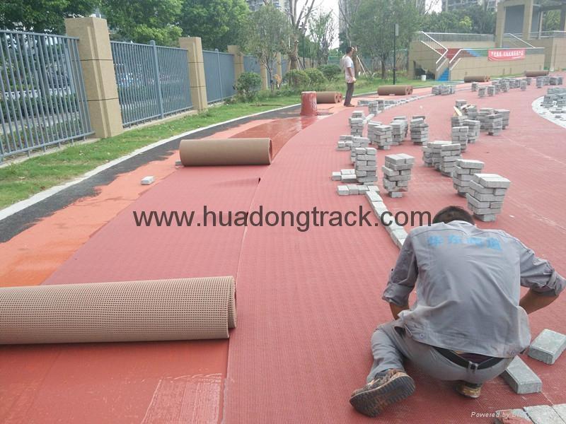IAAF Certified Rubber Athletic Sport Running Track Floor 4