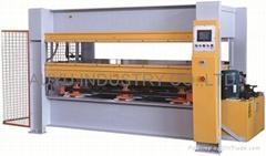 Woodworking hot press machine
