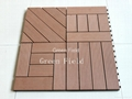 WPC decking tiles for parks 1