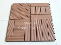 WPC decking tiles for parks