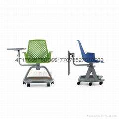 多功能塑料培训椅可360度旋转