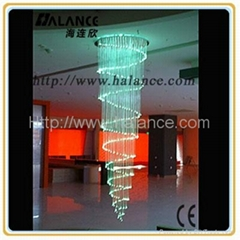 Meeting Room Sprial chandelier crystal chandelier(OFC-011), drop 2M len(OFC-012)