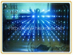 3D fiber optic mirror light, IP45, with remote controller