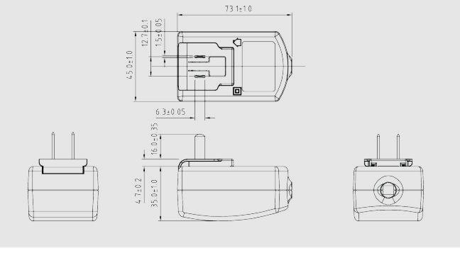 12W可抽换式插头电源 2