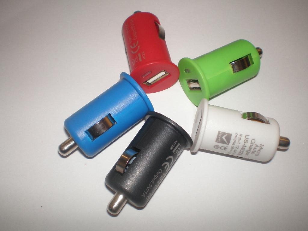 multi-colors in car charger 5V1.0A,
