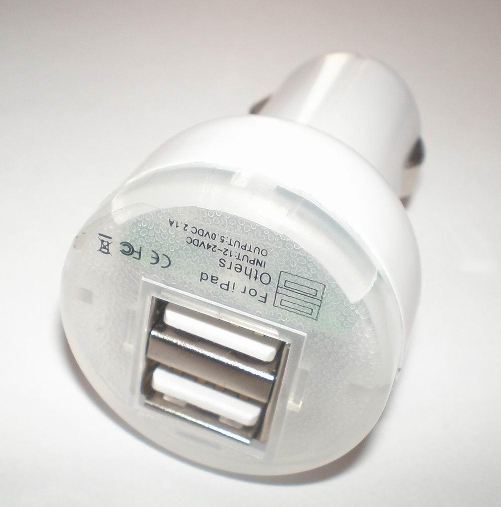 double USB car charger 3