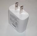5V USB plug adapter, US plug, UL, FCC approvals, level VI 1