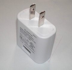 5V USB plug adapter, US plug, UL, FCC approvals, level VI