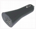dual usb car charger for iphone, ipad 2
