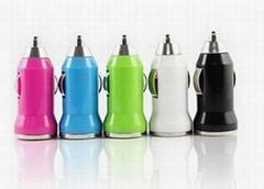 Mini USB car charger 5V/1.0A