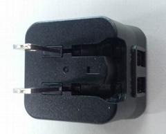 10W可轉換插頭充電器 USB全球認証