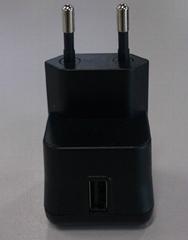 USB travel charger 5V/2.1A  EU plug type