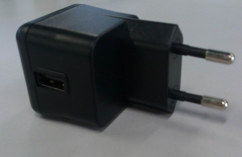 USB mobile charger, EU plug, En60950