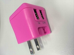双USB,15W充电器,可变换插头