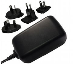 12V/1.0A  power adapter, multi plugs, full safety,