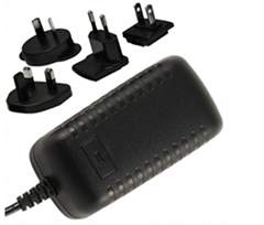 12~24V  Power Adapter, multi prongs,China adapter supplier