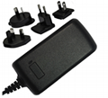 12V, 3.75A  Switching Power Supply with Multi prongs