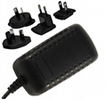 5~24V  Interchangeable AC Adapter, level VI,
