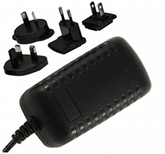 5~24V  Interchangeable AC Adapter, level VI,